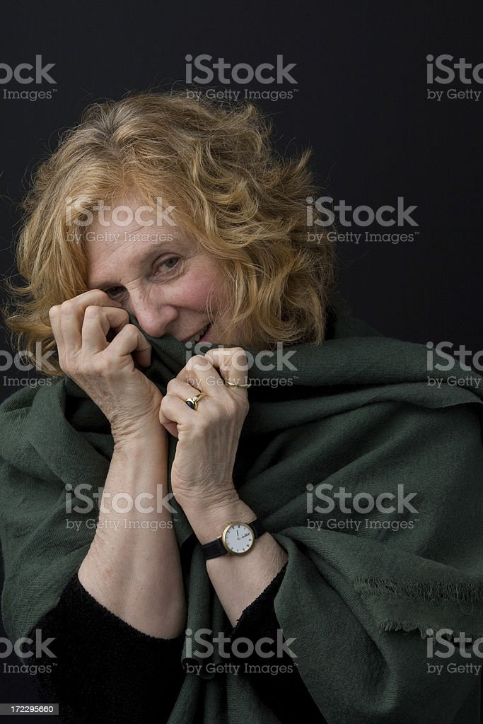 Shy royalty-free stock photo