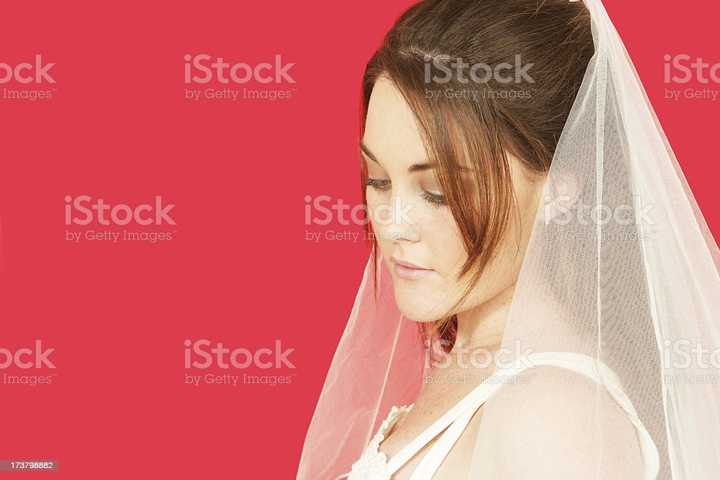 Shy Red Bride royalty-free stock photo