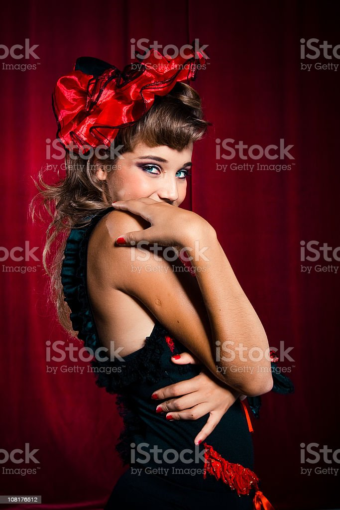 Shy Showgirl royalty-free stock photo