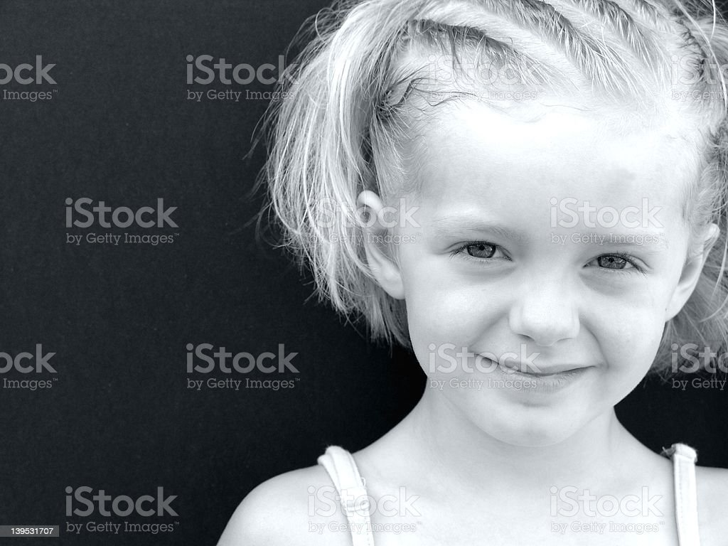 Shy Smile II royalty-free stock photo