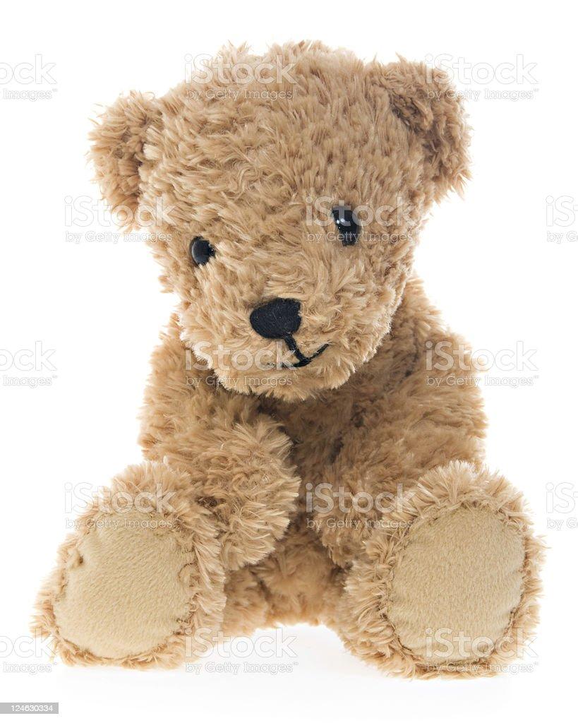 Shy Teddy Bear Sitting royalty-free stock photo
