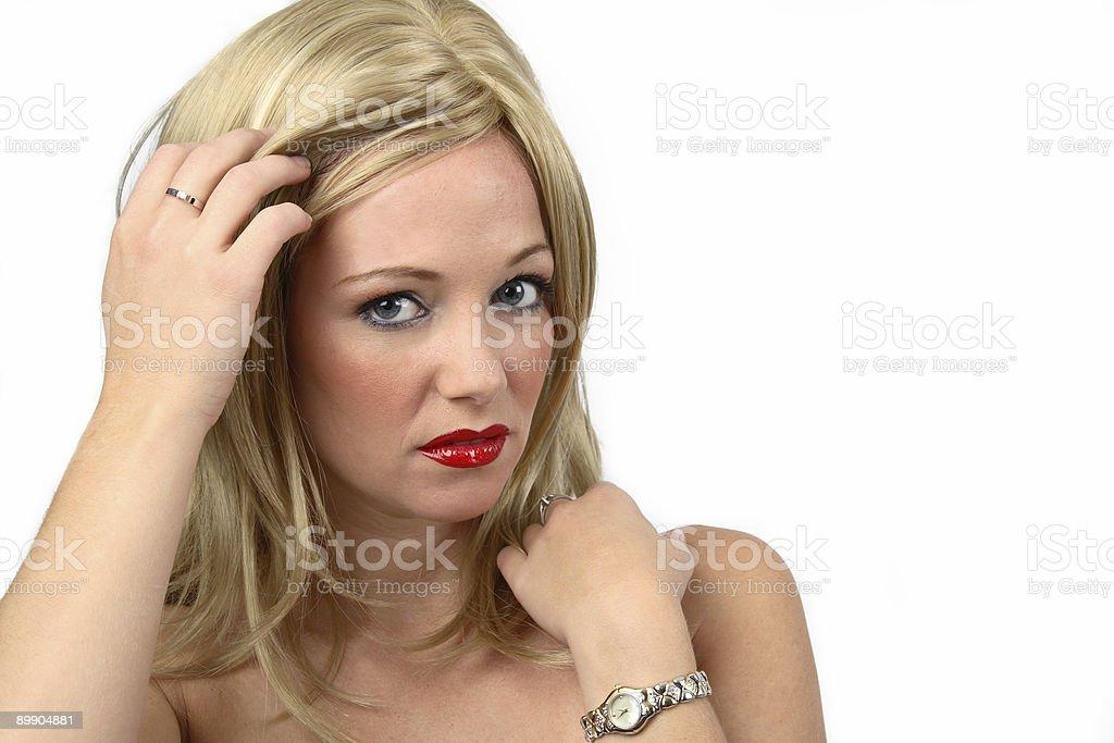 Shy Woman royalty-free stock photo