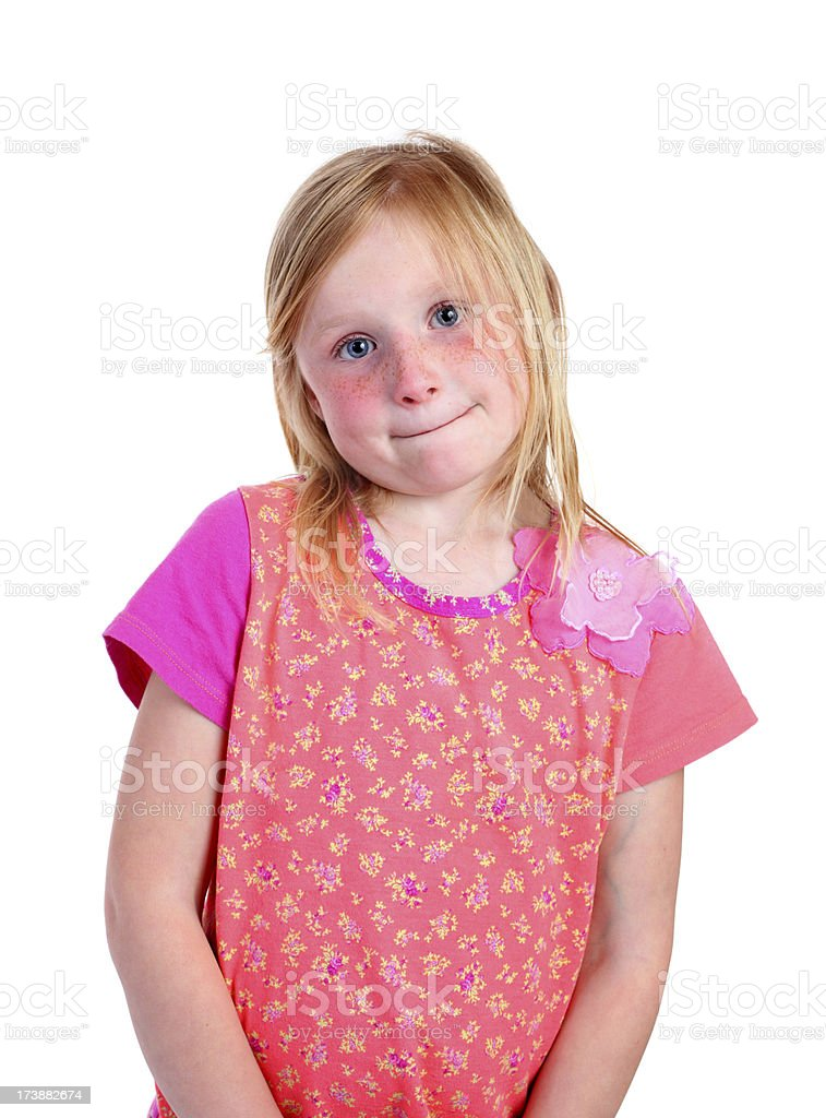 shy young girl royalty-free stock photo