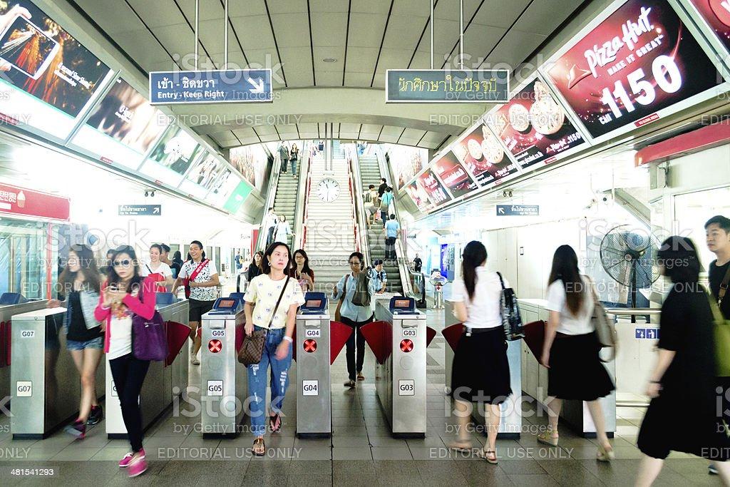 Siam BTS Station, Bangkok, Thailand royalty-free stock photo