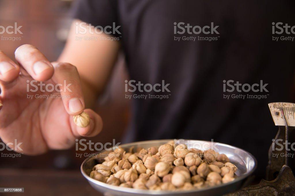 Siam Cardamom Seed herbal aroma food seasoning in herb store background stock photo