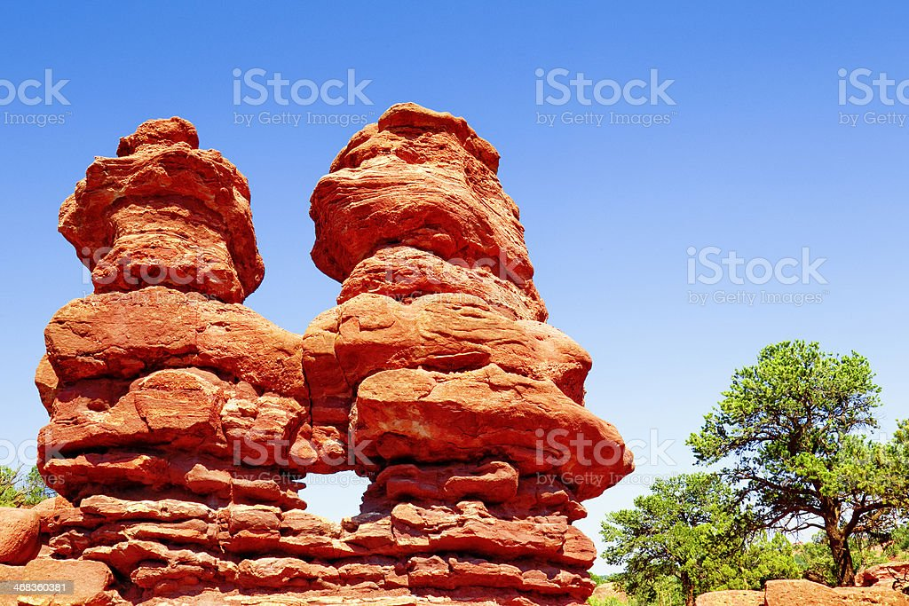 Siamese Twins - Garden of the Gods royalty-free stock photo