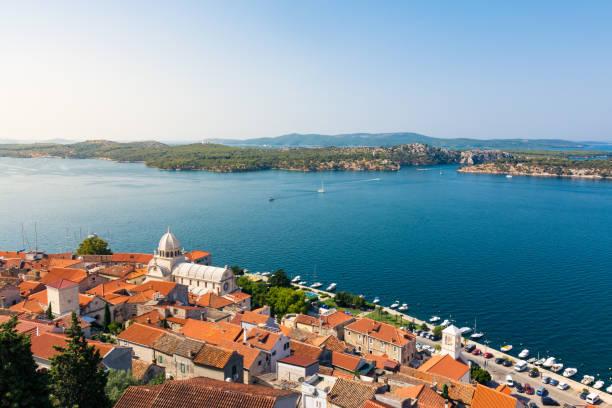 Sibenik Kroatien europäischen Urlaub Reiseziel Stadt Landschaft Meer Sommer Sightseeing – Foto