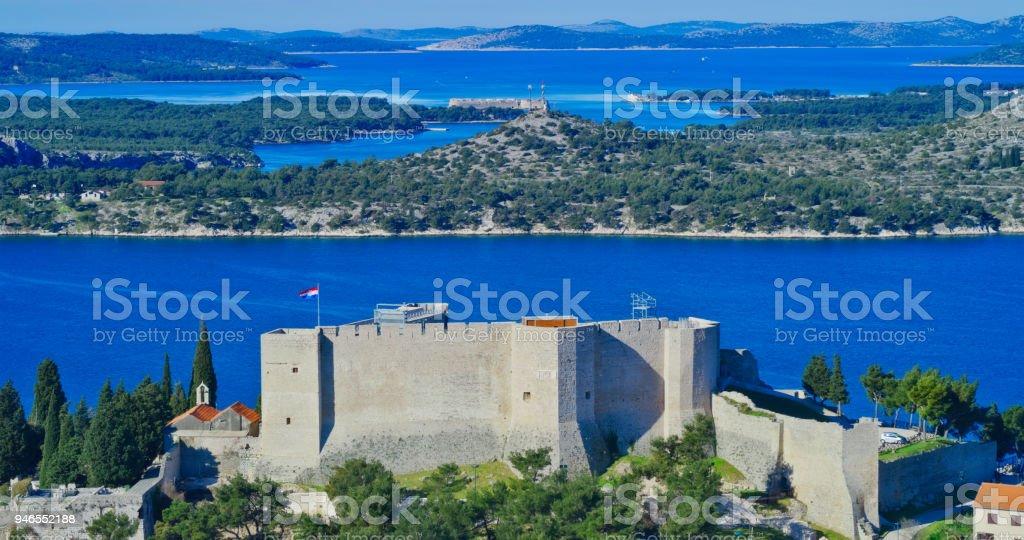 Sibenik St. Michael Fortress stock photo