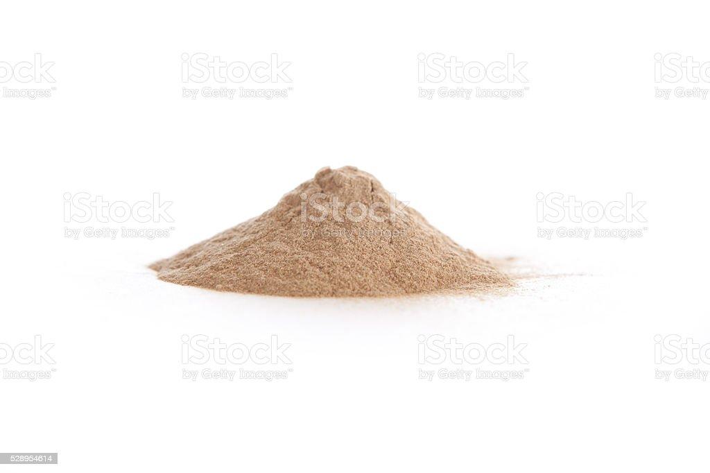 Siberian ginseng, eleuthero powder, Eleutherococcus senticosus stock photo