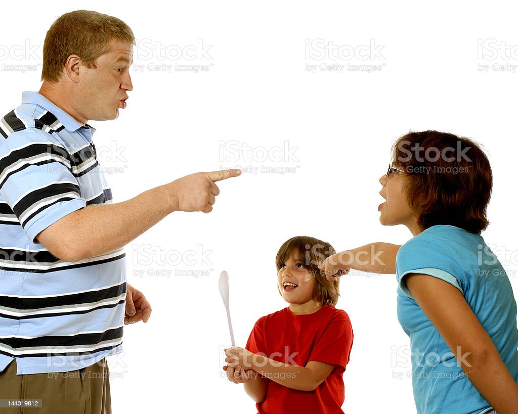 Sibling Blame Game royalty-free stock photo
