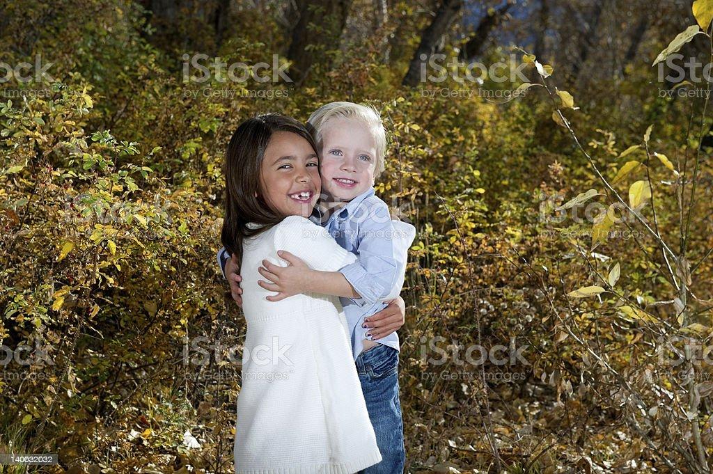 Sibling Love royalty-free stock photo
