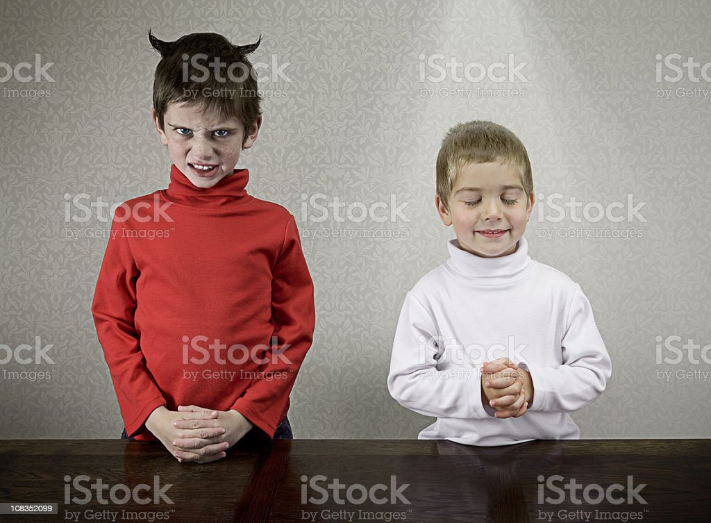Sibling Personalities stock photo