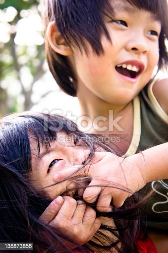istock Sibling playing 135873855