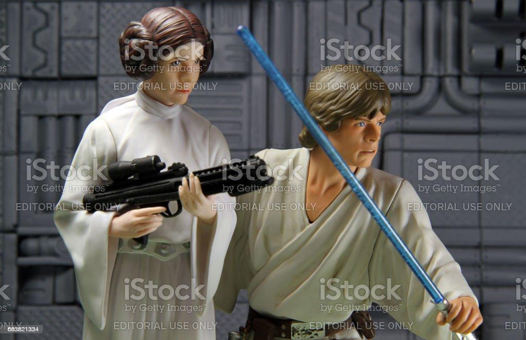 Sibling Warriors stock photo
