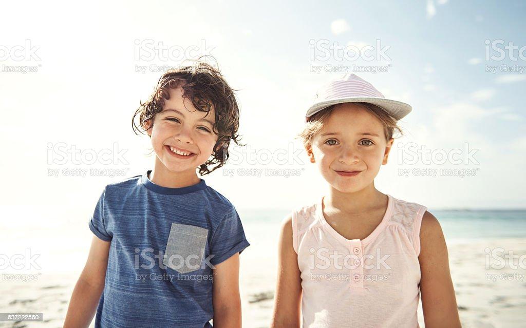 Siblings are friends for life - Lizenzfrei Blendenfleck Stock-Foto