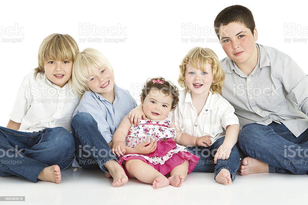 Sibling's love stock photo