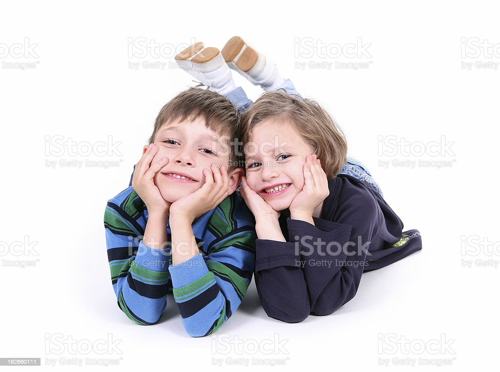 Siblings. royalty-free stock photo