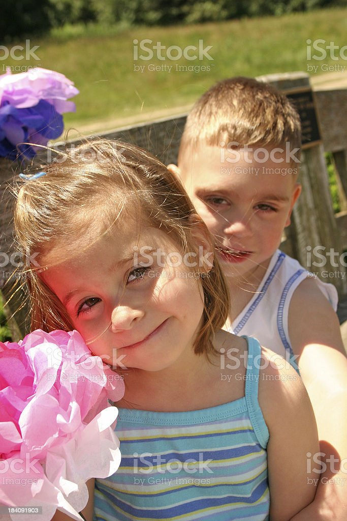 Siblings royalty-free stock photo