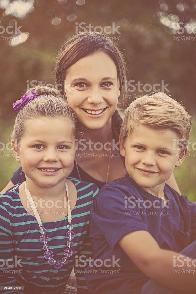 Siblings stock photo