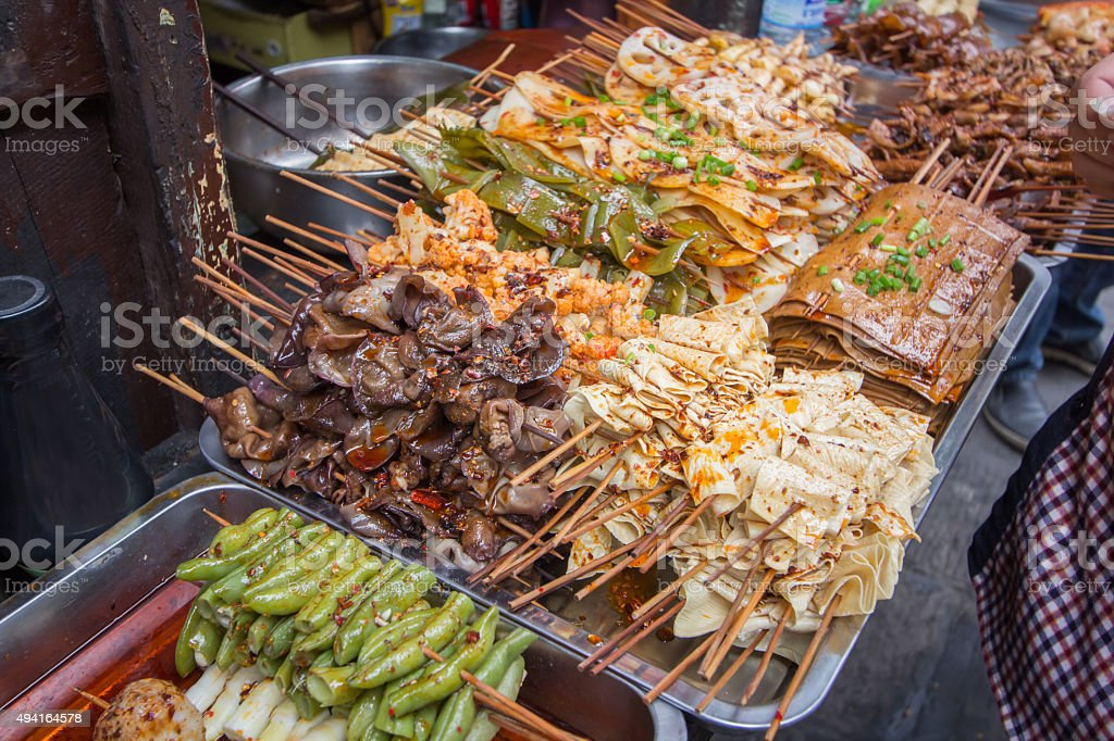 Sichuan barbecue stock photo