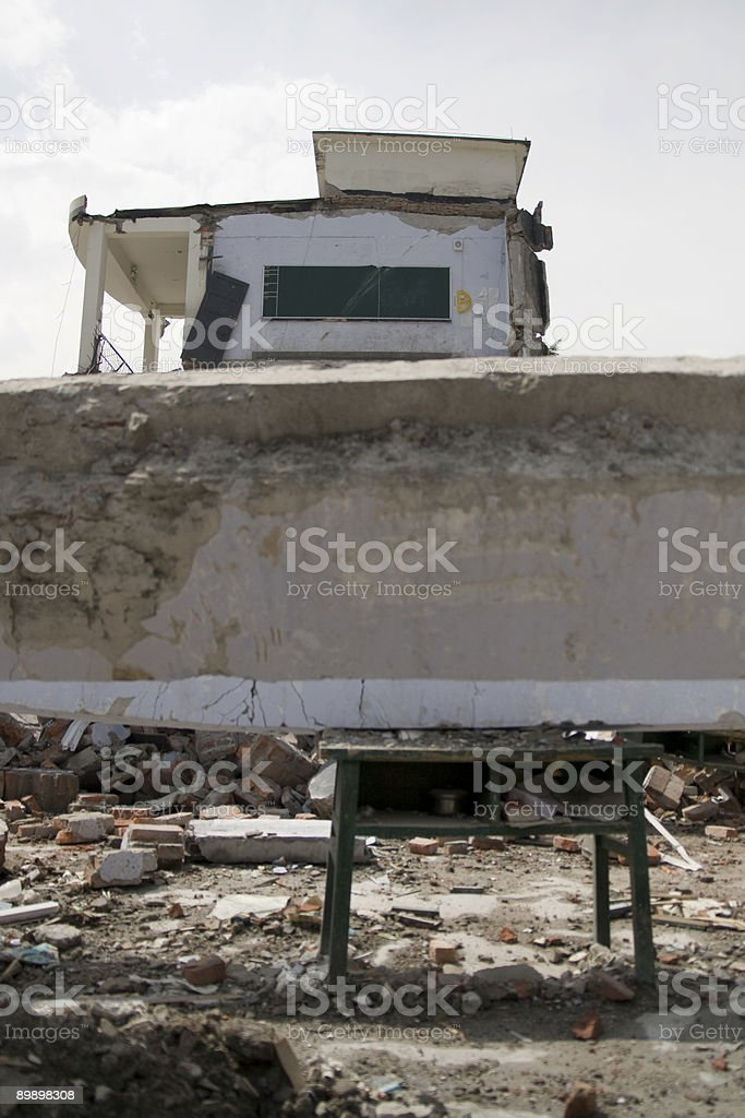 Sichuan earthquake - China royalty-free stock photo
