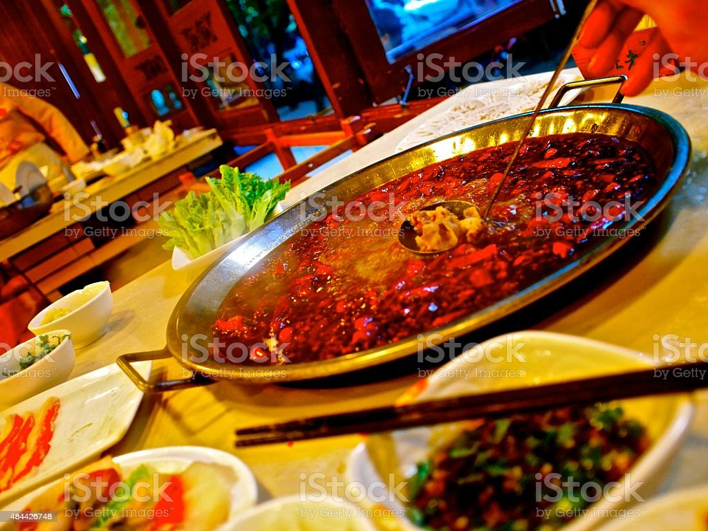 Sichuan Hot Pot stock photo