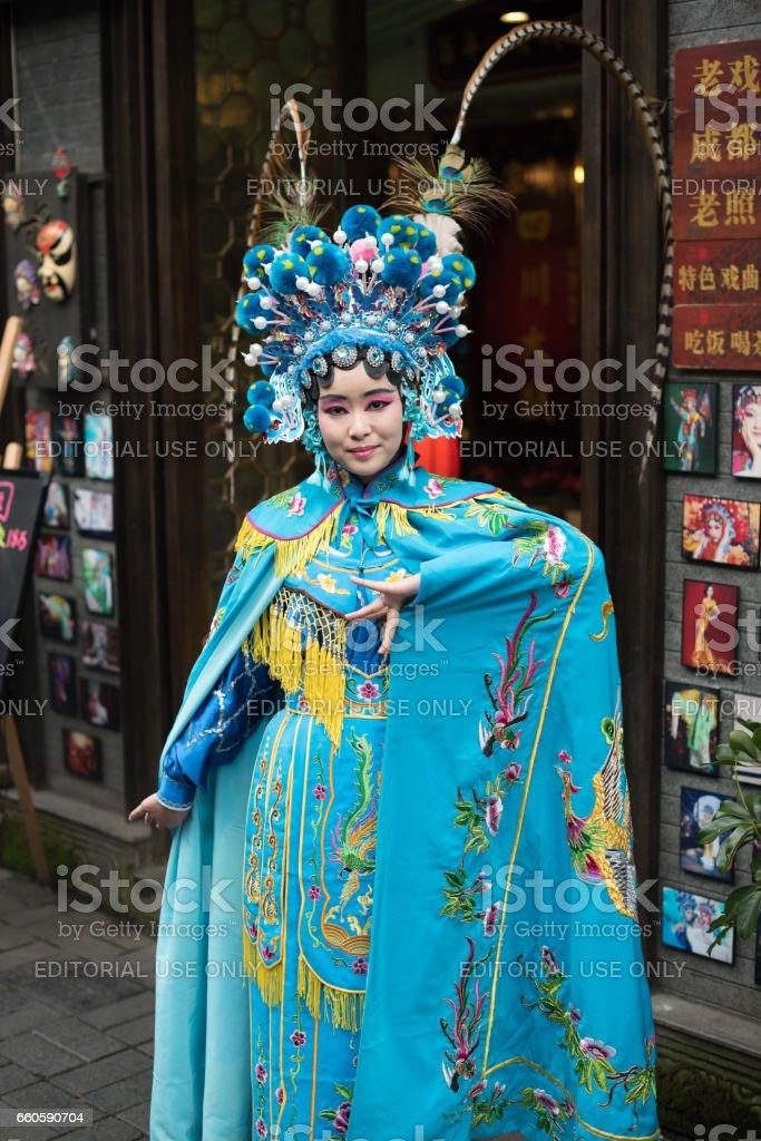 Sichuan Opera actress royalty-free stock photo