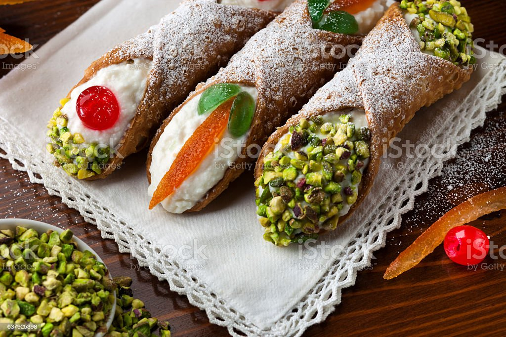 Sicilian Cannoli 3 stock photo