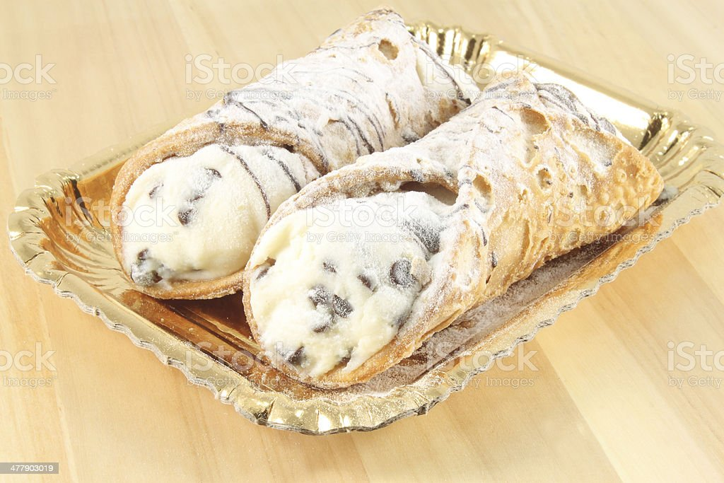 Sicilian cannoli stock photo