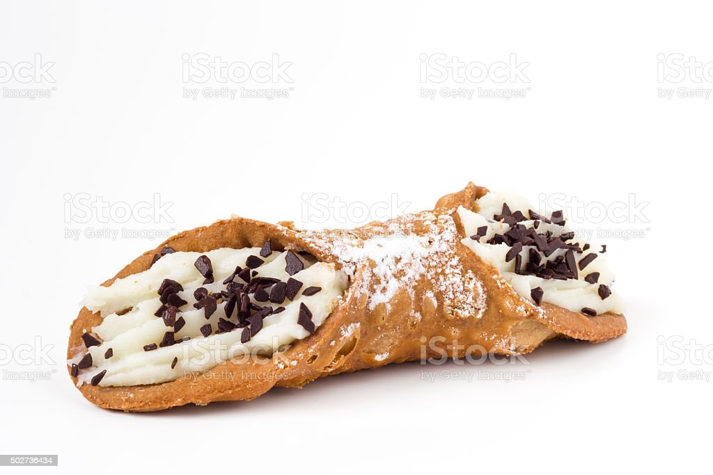Sicilian cannolo stock photo