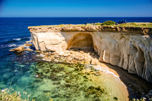 The rugged coastline just south of Siracusa, Sicily.