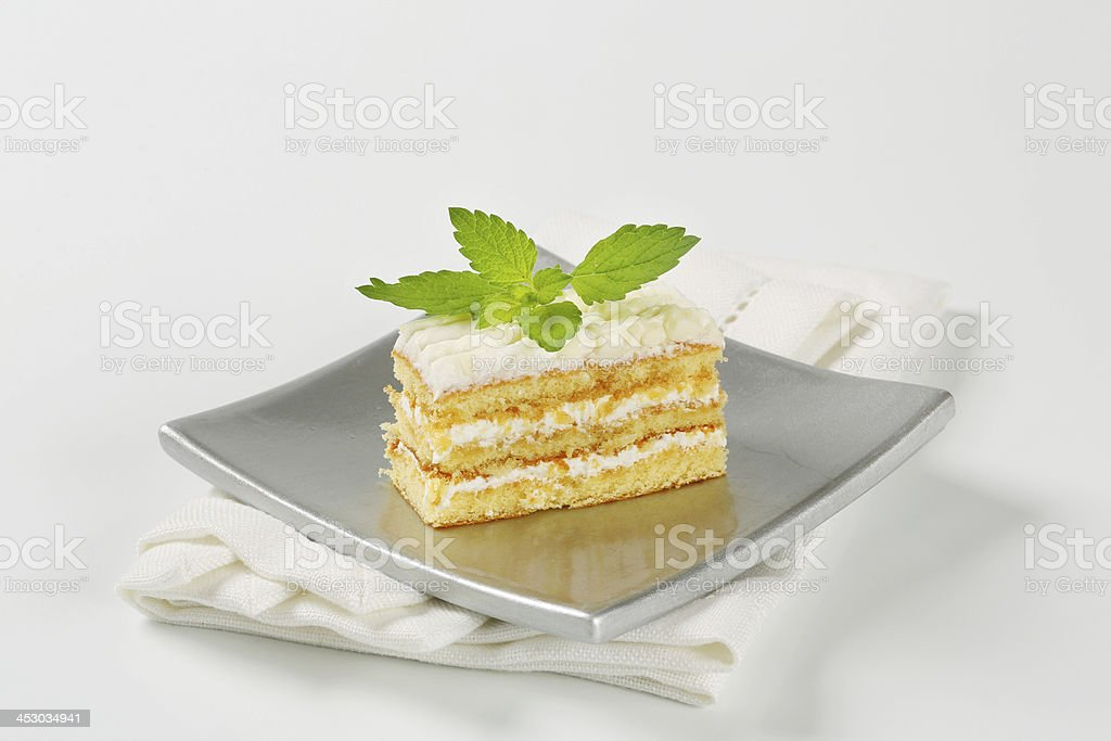 sicilian cream cake stock photo