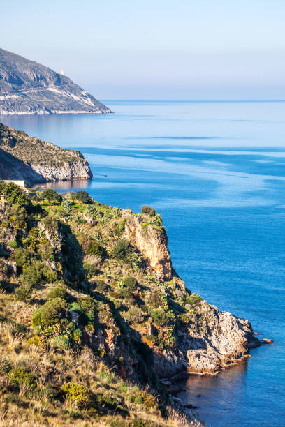 Sicilian landscape - Scopello stock photo