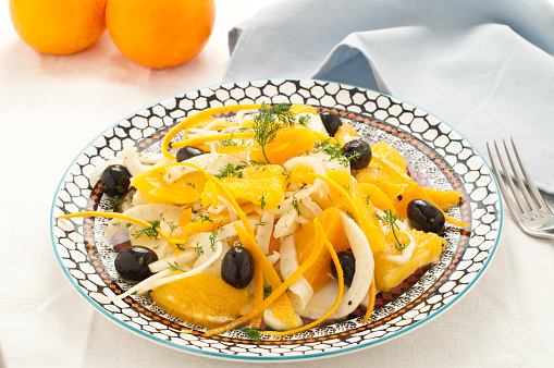 istock Sicilian salad with oranges, fennel and olives 508162936
