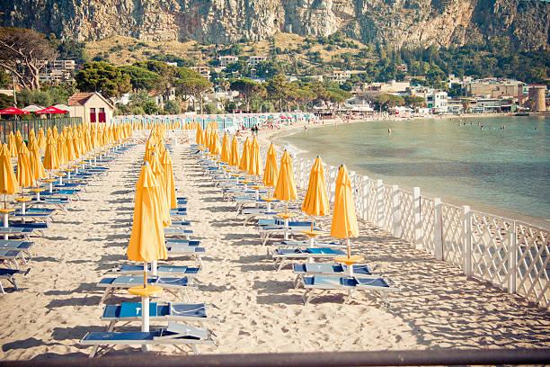 Sicilian seascape stock photo