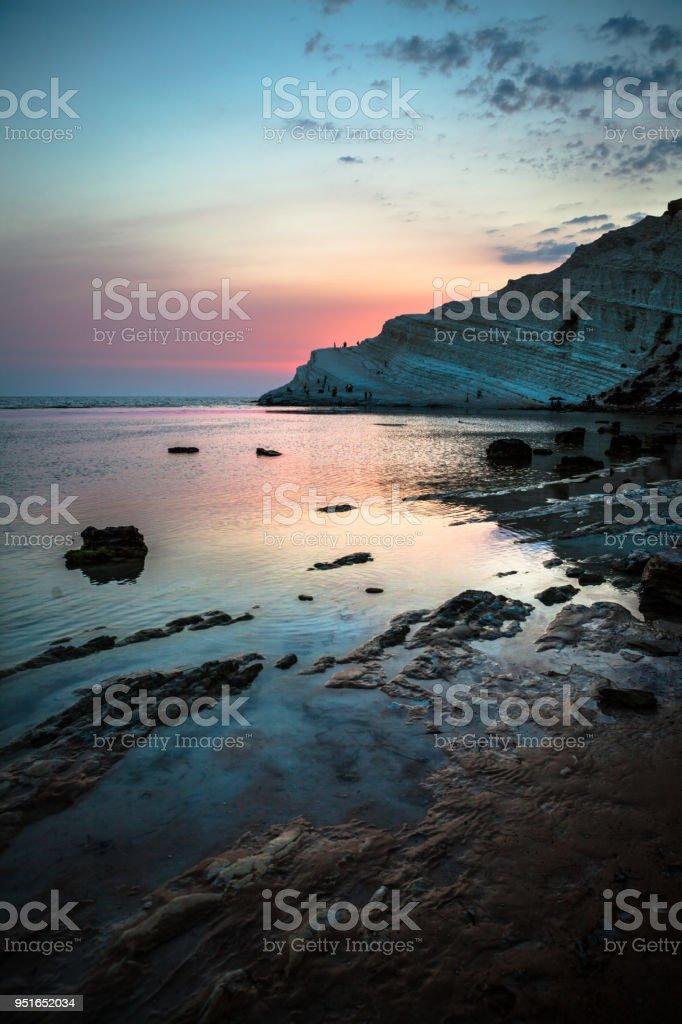 Tramonto Siciliano stock photo