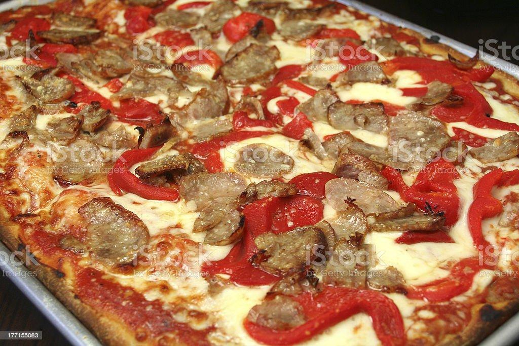 Sizilianische Pizza Mit Dickem Teig Stock-Fotografie und mehr Bilder ...