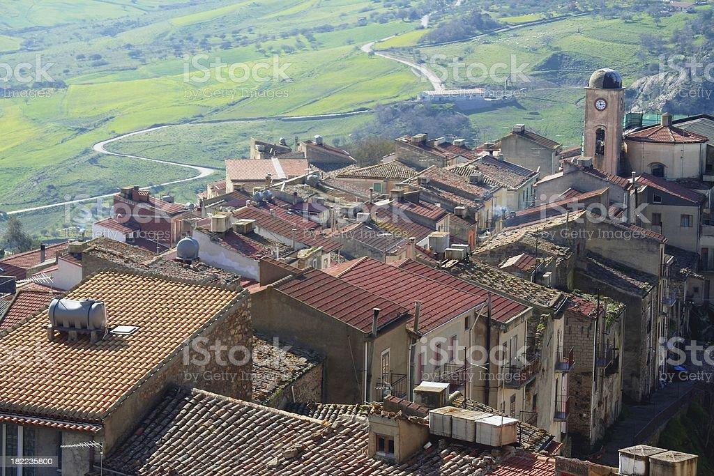 Sicilian village royalty-free stock photo
