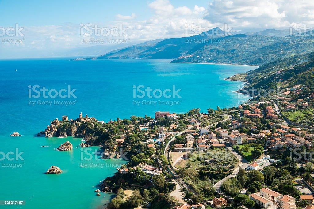 Sicily coast stock photo