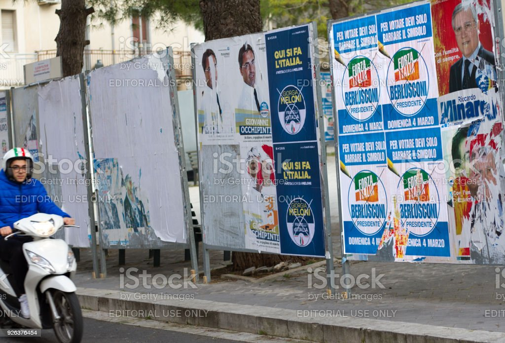 Sicily, Italy: Scooter Zips by Political Posters stock photo
