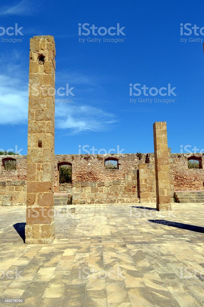 Sicilia, Italy. Tonnara di Vendicari stock photo