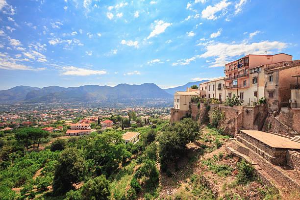 Sizilien spät Sommer Landschaft in Italien – Foto