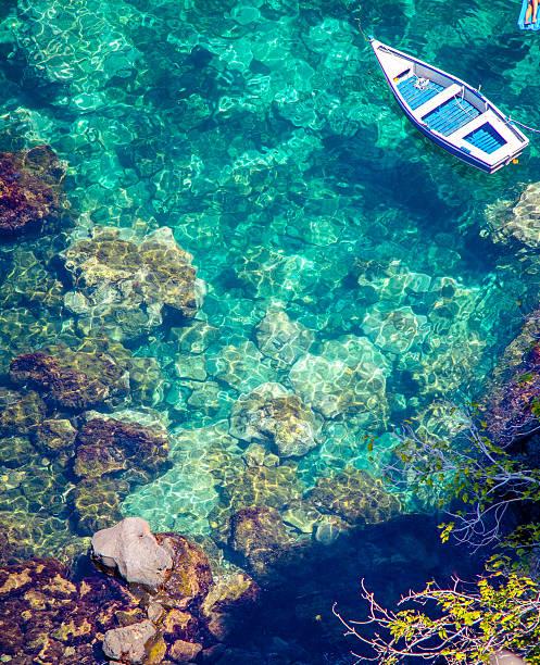 Sicily sea near Catania, Italy stock photo