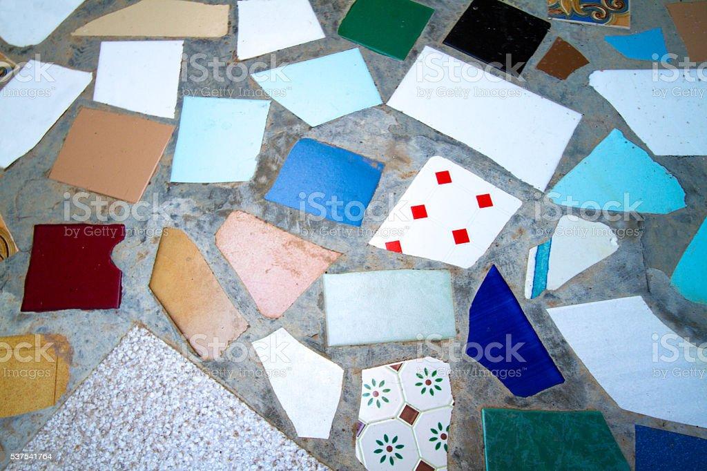 Sicilia stile pavimentazione realizzata con frammenti di rotto