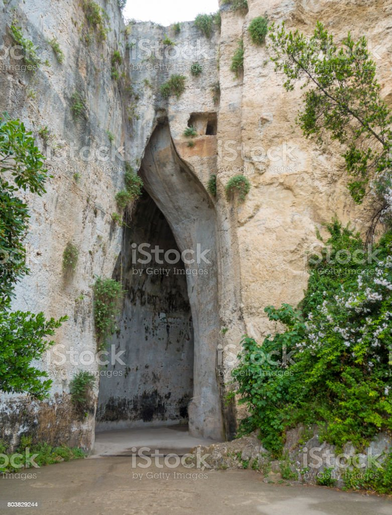 Sicily - Syracuse - Dionysus's ear stock photo
