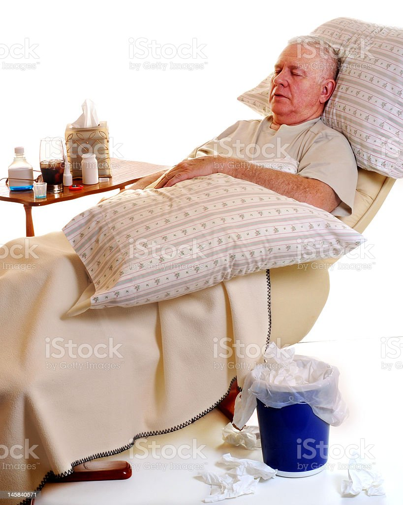 Sick and Resting royalty-free stock photo