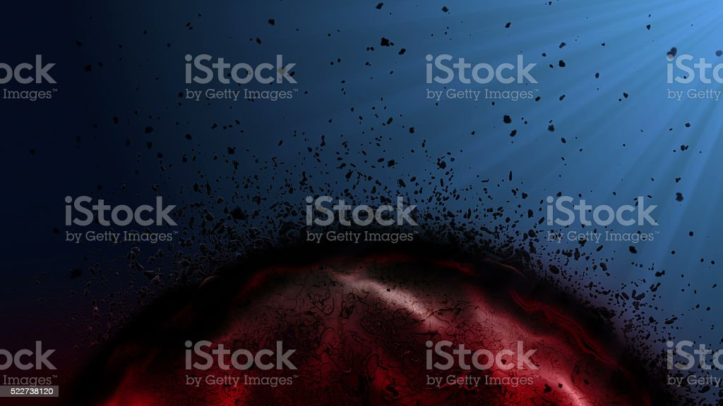 sick blood cell, cancer cell. stock photo
