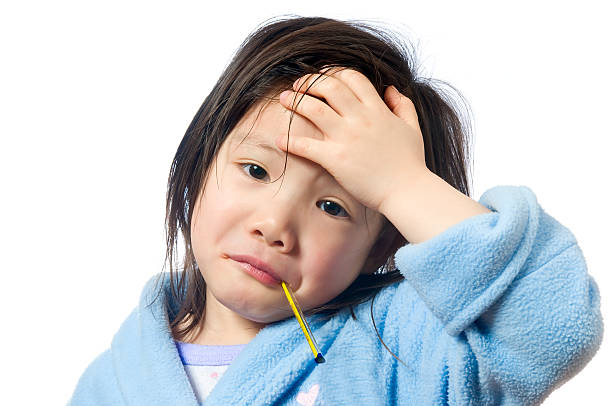Sick Child stock photo
