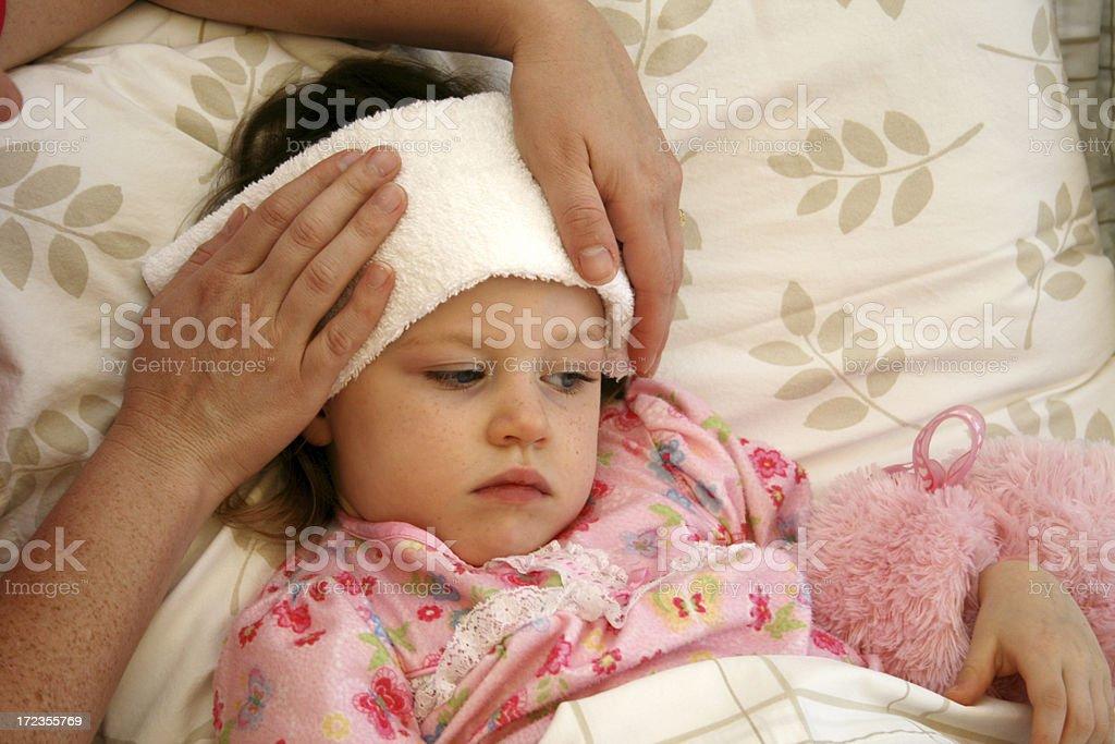 Sick niño foto de stock libre de derechos