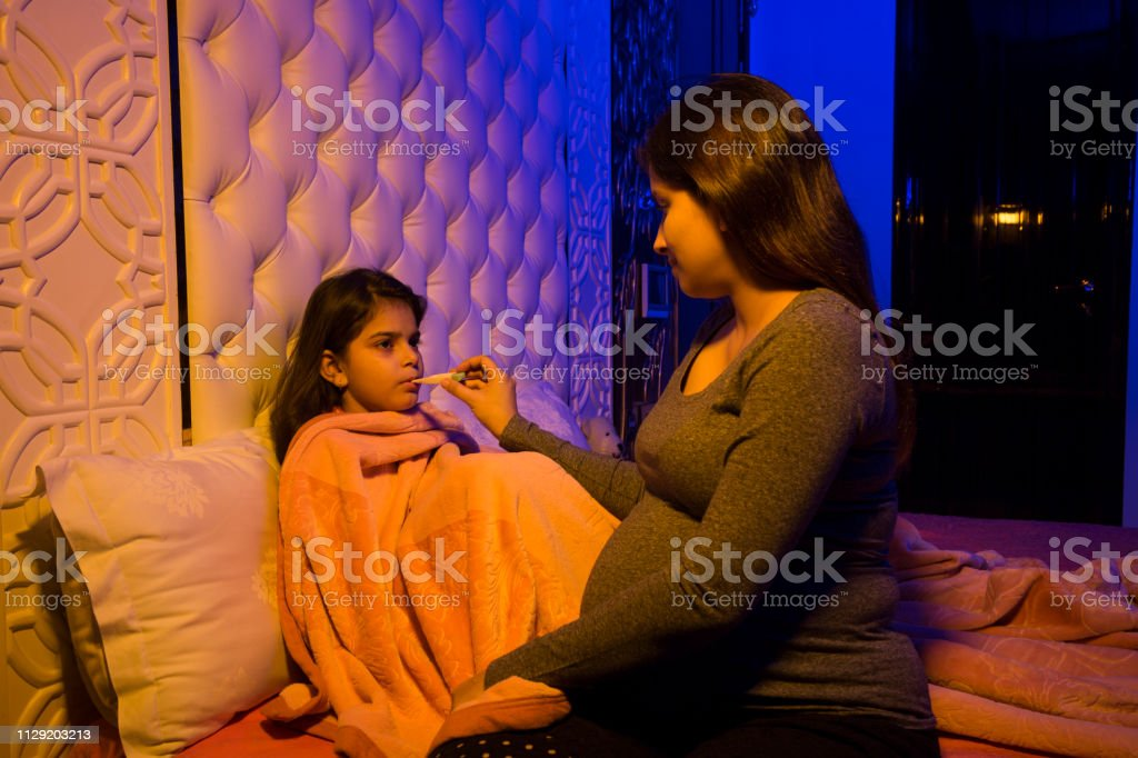 Sick Child With High Fever Stock Image Stock Photo ...